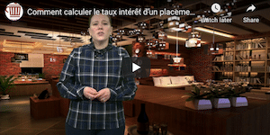 video comment calculer un taux interet
